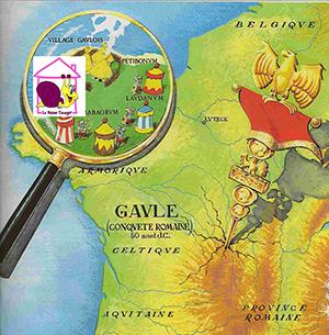 """Carte de Bretagne situant le Centre d'Education Conductive """"La Maison Escargot""""."""